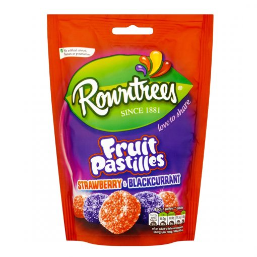 ROWNTREES FRUIT PASTILLES STRAWBERRY AND BLACKCURRANT